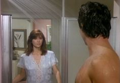 """Pam: """"Oh Bobby! I had a terrible nightmare! I dreamed that Donald Trump won the presidential election and he deported all of Southfork's Mexican help- and Miss Ellie made me do all of the gardening and scrub all of the toilets! Oh...it was awful, Bobby!!"""