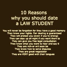 Dating en Law School student