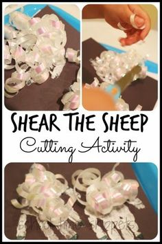 Shear the Sheep Cutting Activity. Fun activity to practice scissor skills! Great for a farm unit or just because : )