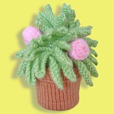 Miniature Knitted Houseplant Free Pattern PDF file http://www.clarescopefarrell.co.uk/pdf/minihouseplant.pdf