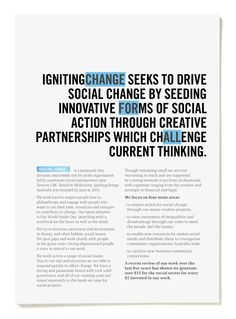 Igniting Change by RE:, via Behance
