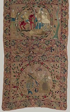 Scarf with Old Testament scenes (detail) [India] (50.73) | Heilbrunn Timeline of Art History | The Metropolitan Museum of Art