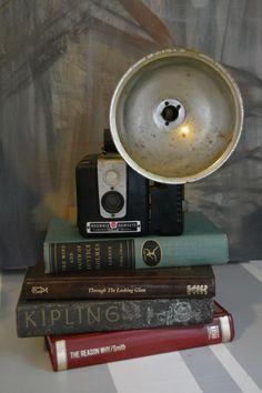 Mid Century 1950's Kodak Browine Hawkeye with Flash Vintage Camera by TreasureTroveArt on Etsy www.dreams2designs.com