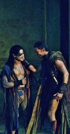 Agron and Nasir in Spartacus