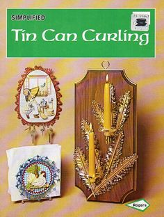 Vintage Craft Book - Tin Can Curling 1970s Home Decor Candleholders Much More - CraftySupplyAddict