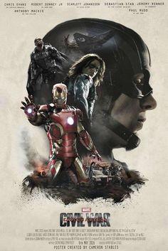 Captain America: Civil War - Fan Art: - Visit to grab an amazing super hero shirt now on sale!