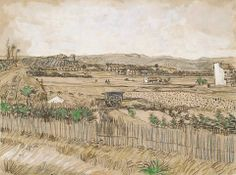 Vincent Van Gogh Harvest In Provence, At The Left Montmajour oil painting reproductions for sale Art Van, Van Gogh Art, Vincent Van Gogh, Van Gogh Drawings, Van Gogh Paintings, Gouache, Van Gogh Zeichnungen, Harvard Art Museum, Impressionist