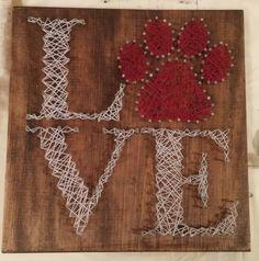 Dog or Cat LVE string art. facebook.com/asherthing or asherthingstrings on IG