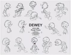 Huey, Dewey & Louie Model Sheets (Quack Pack) 1993