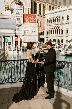 Bad Ass Venetian Las Vegas Elopement with a Black Sequinned Dress · Rock n Roll Bride Vegas Wedding Invitations, Vegas Wedding Venue, Las Vegas Weddings, Elope Wedding, Wedding Dresses, Destination Wedding, Wedding Destinations, Dream Wedding, Venetian Wedding