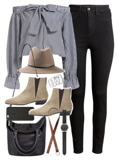 """Outfit for a casual day out"" by ferned on Polyvore featuring H&M, Janessa Leone, Status Anxiety, Black Apple, Isabel Marant, Vince Camuto and J.Crew"