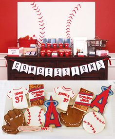 Modern baseball birthday party, with concessions and everything.