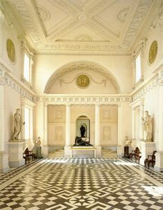 Entrance Hall at Syon House (1762-1769) Robert Adam.