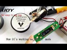 IJOY Asolo 200W Box Mod temp control work on Kanthal A1 24g - YouTube
