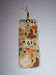 laminated paper bookmark (rounded edges) - dogs (SKU 15-039) Handmade bookmark