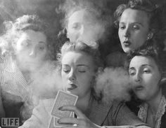 """""""On the evening of May 20, members of the Young Women's Republican Club of Milford, Conn., explored the pleasures of tobacco, poker, the strip tease and such other masculine enjoyments as had frequently cost them the evening companionship of husbands, sons and brothers.""""    So begins an article in the June 16, 1941 issue of LIFE chronicling the shenanigans that erupt when a group of GOP women get together for an old-school """"smoker"""" (noun: an informal social gathering for men only) for one…"""
