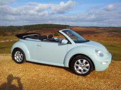 Misc for sale : Dream car - VW powder blue beetle Beetle Car, Blue Beetle, Fiat 600, Fancy Cars, Cute Cars, Vw Beetle Convertible, Bug Car, Car Volkswagen, First Car