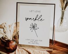 An 8x10 Let Love Sparkle wedding sign for your next wedding reception Next Wedding, Wedding Table, Wedding Reception, Love Sparkle, Sparkle Wedding, Table Signs, Wedding Stationary, Wedding Signs, Etsy Seller