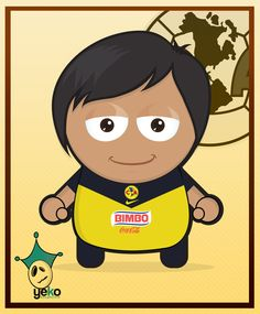 El Club America, my favorite soccer team, they are playing the Mexican derby this weeekend against some team no body cares about...     The Monito is not an actual player, I based the look of it in no other than myself haha, dark skin, lame hair, tired eyes, oh well I hope everyone likes it.    The tittle comes from one of their quotes/phrases, Odiame Mas which means Hate me more, there is no middle point with America, you aether Hate them or Love them, so here it is.     visit www.yeko.co.uk