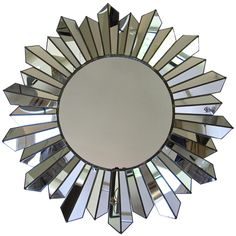 Large Soleil Sunburst Wall Mirror at 1stdibs ❤ liked on Polyvore featuring home, home decor, mirrors, sun burst mirror, sunburst wall mirror, sun shaped mirror, wall mirrors and sunburst mirror