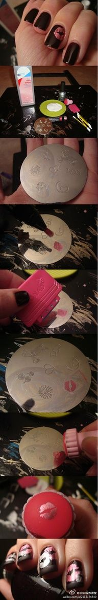 Konad nail stamping; how to
