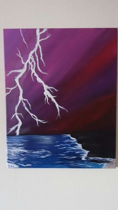 """Beautiful Storm"" DNA acrylic on canvas"