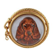 1stdibs - TIFFANY Fabulous Reverse Crystal Cocker Spaniel Gold Brooch explore items from 1,700  global dealers at 1stdibs.com