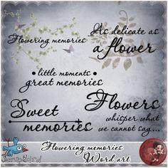 Flowering memories word art by Scrap'Angie