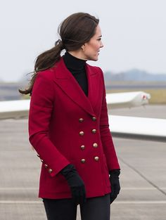 Catherine Duchess of Cambridge visits the RAF Air Cadets at RAF Wittering on February 14 2017 in Stamford England The Duchess of Cambridge is Royal...