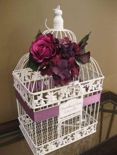 Bird Cage Wedding Card Holder Vintage Style / by SoClassicallyChic, $60.00