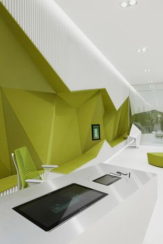 Image 16 of 22 from gallery of Flagship Branch Bank DSK / DA architects. Photograph by Minko Minev Bank Interior Design, Home Office Design, Interior Exterior, Workspace Design, Office Workspace, Banks Office, Luxury Office, Small Office, Office Interiors