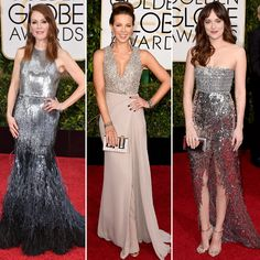 Golden Globes Red Carpet Trend Alert: Modern Metallic Embellishments  #InStyle