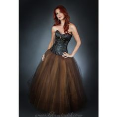 Size Medium Brown and Gold Steam Punk Leather Burlesque Corset Chain... ($399) ❤ liked on Polyvore