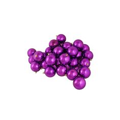 "12ct Shatterproof Shiny Light Magenta Pink Christmas Ball Ornaments 4"" (100mm)"