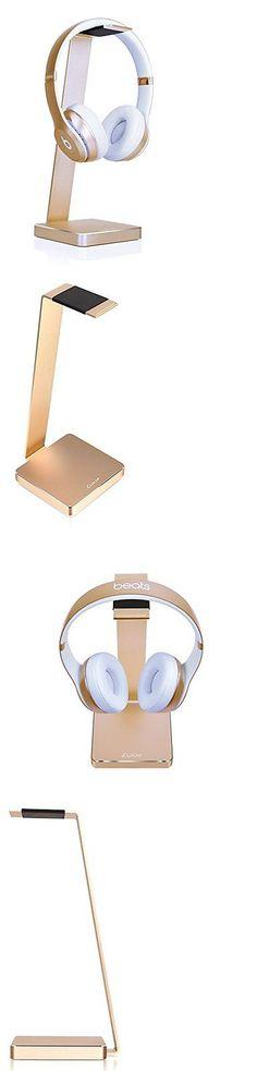 Other Portable Audio: Gold Aluminum Headphone Hanger Earphone Desk Stand Holder Display Rack -> BUY IT NOW ONLY: $46.95 on eBay!