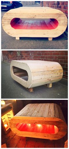 Space Pod Table #PalletTable, #PalletTVStand, #RecycledPallet