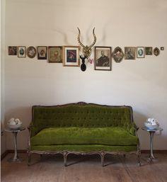 little green sofa