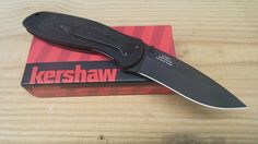Kershaw Blur Assisted Opening Knife Black Drop Point  Blade Folding 1670BLK #Kershaw