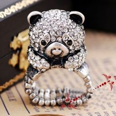 European and American Ancient Style Bear Ring $5.34