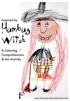 Humbug Witch Inspired Listening Comprehension and Art Activity for a Fun Halloween Writing Activity for Kids