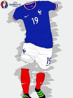 France kit for Euro 2016.