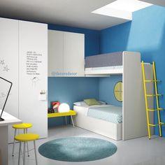 Inspiração de quartinho pra adolescentes By Go Modern Architecture  @decorcool  ARCHITECTURE | BEDROOM | TEENAGE