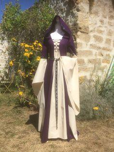 Gothique médiéval païen Tunique Cascade Bell Manche rouge taille unique 12 14 16 18