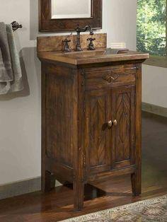 Rustic Bathroom Double Vanities
