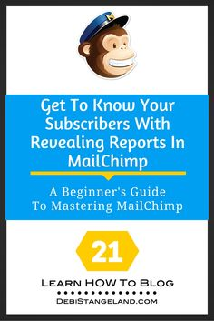Your subscribers tell you something about themselves every time they open one of your email campaigns. You can discover what they like and what they need by looking at your reports in MailChimp. Learn to read these reports and give your subscribers exactly what they want in your newsletters. MailChimp makes it easy. ★ Learn HOW To Blog ★
