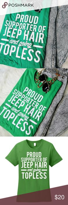 Jeep Hair & Going Topless T-Shirt New. Bundle to save. - Jeep Hair & Going Topless T-Shirt New. Bundle to save. Standars fit women's shirt. Tops Tees – S - Wrangler Accessories, Jeep Accessories, Jeep Clothing, Woman Clothing, Jeep Sahara, Jeep Cars, Jeep Jeep, Jeep Shirts, Jeep Life