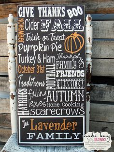 Fall Sign!  Check out www.madikaydesigns.com for beautiful custom signs!