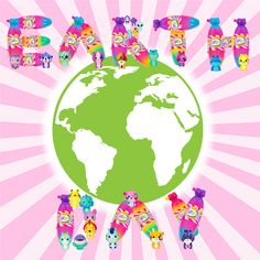 Happy Earth Day from Bananas Bunch :) Go Bananas, Collectible Toys, Happy Earth, Earth Day, Space, Fun, Baby Dolls, Places, Floor Space