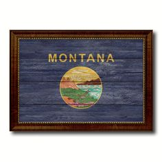 Montana State Flag Gift Vintage Rustic Western ManCave Bar Art Home Decor 6088 #UrbanArt