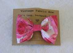 Hot Pink Fabric Hair Bow by DesignsByMistyT on Etsy, $11.95